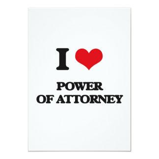 I Love Power Of Attorney 5x7 Paper Invitation Card