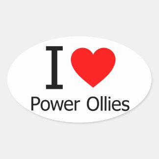 I Love Power Ollies Oval Sticker