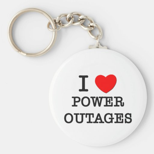 I Love Power Outages Basic Round Button Keychain