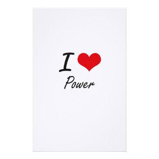 I Love Power Stationery