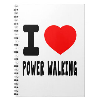 I Love Power Walking Note Book