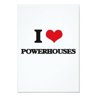 I Love Powerhouses 3.5x5 Paper Invitation Card