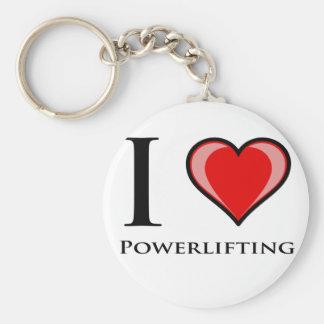 I Love Powerlifting Basic Round Button Keychain