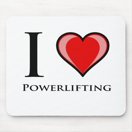 I Love Powerlifting Mouse Pad