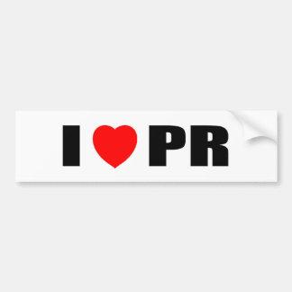 I Love PR Bumper Stickers