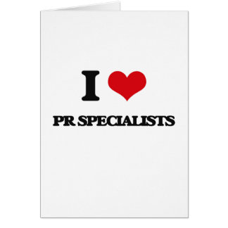 I love Pr Specialists Card