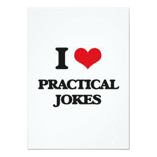 "I Love Practical Jokes 5"" X 7"" Invitation Card"