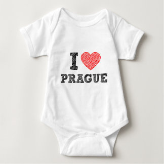 I Love Prague Baby Bodysuit