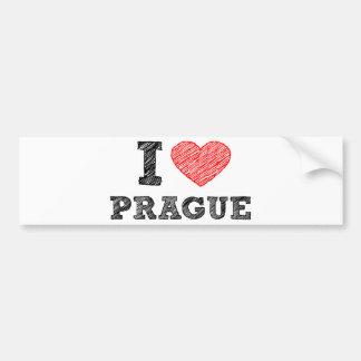 I Love Prague Bumper Sticker