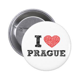 I Love Prague Button