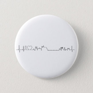 I love Prague (ecg style) souvenir Button