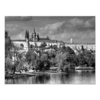I love Prague, in black and white Photo Print