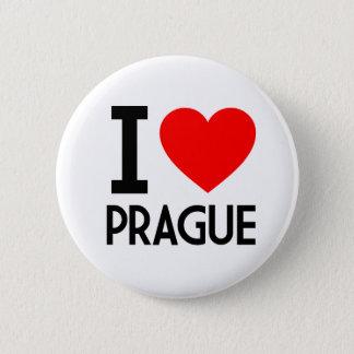 I Love Prague Pinback Button