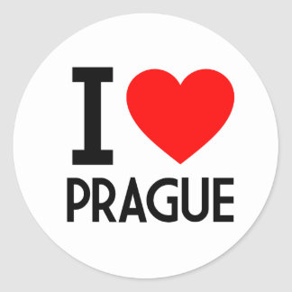 I Love Prague Stickers
