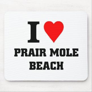 I love Prair Mole Beach Mouse Pads