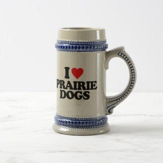I LOVE PRAIRIE DOGS 18 OZ BEER STEIN