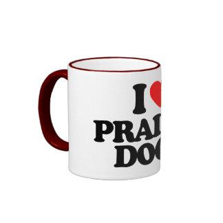 I LOVE PRAIRIE DOGS RINGER COFFEE MUG