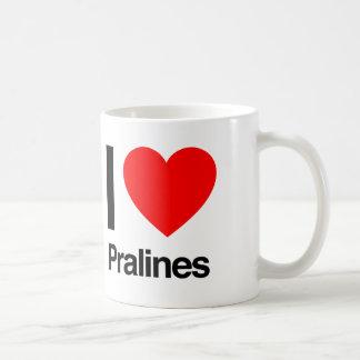 i love pralines classic white coffee mug