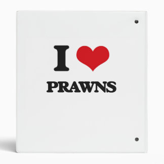 I Love Prawns Vinyl Binders