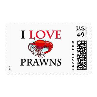 I Love Prawns Stamp