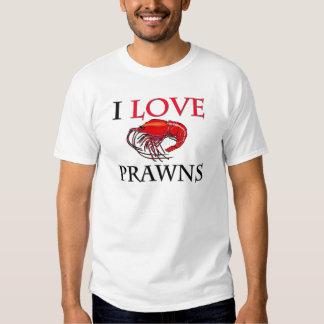 I Love Prawns Shirt
