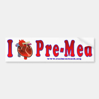 I Love Pre Med Bumper Sticker