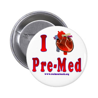 I Love Pre Med Pinback Button