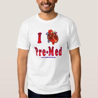 I Love Pre Med T Shirt