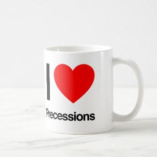 i love precessions coffee mug