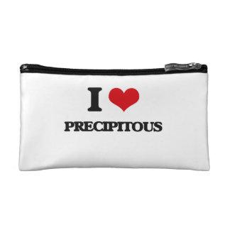 I Love Precipitous Cosmetic Bag