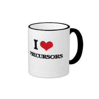I Love Precursors Ringer Coffee Mug