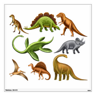 I Love Prehistoric Dinosaurs Wall Decal