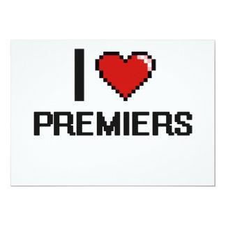 I love Premiers 5x7 Paper Invitation Card