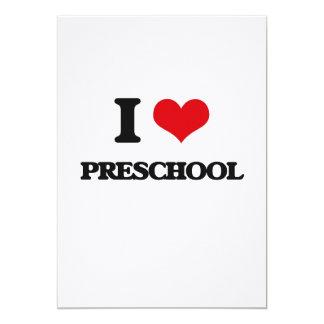 I Love Preschool 5x7 Paper Invitation Card