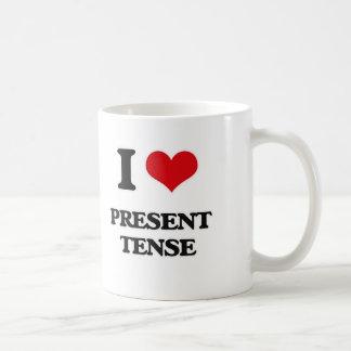 I Love Present Tense Coffee Mug