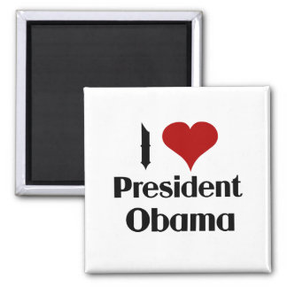 I Love President Obama Magnet