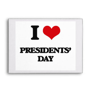 I Love Presidents' Day Envelopes
