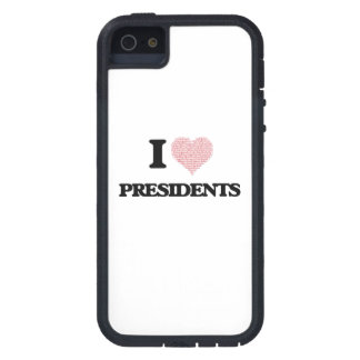 I love Presidents (Heart made from words) iPhone 5 Case