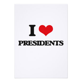 I love Presidents Personalized Announcement