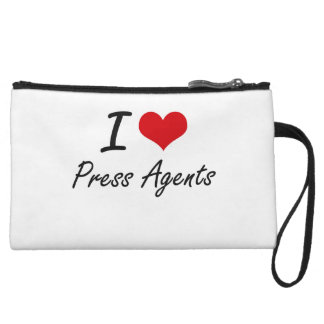 I Love Press Agents Wristlet Purses