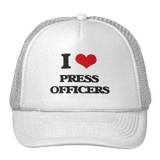 I love Press Officers Mesh Hat