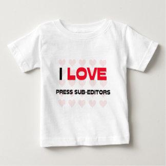 I LOVE PRESS SUB-EDITORS TSHIRT