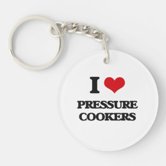 I Love Pressure Cookers Round Acrylic Keychain