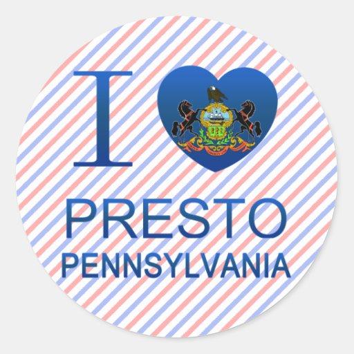 I Love Presto, PA Classic Round Sticker