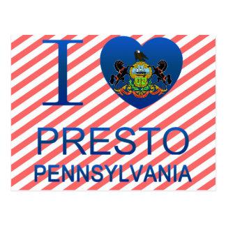 I Love Presto, PA Postcard