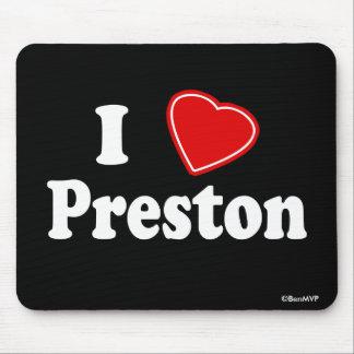 I Love Preston Mouse Pad