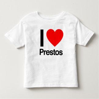 i love prestos toddler t-shirt