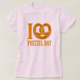 I Love Pretzel Day Funny Baker Pun T-Shirt