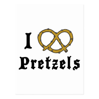 I Love Pretzels Gift Postcard