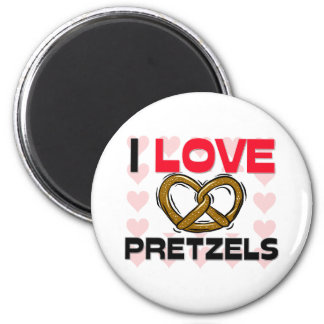 I Love Pretzels Magnet